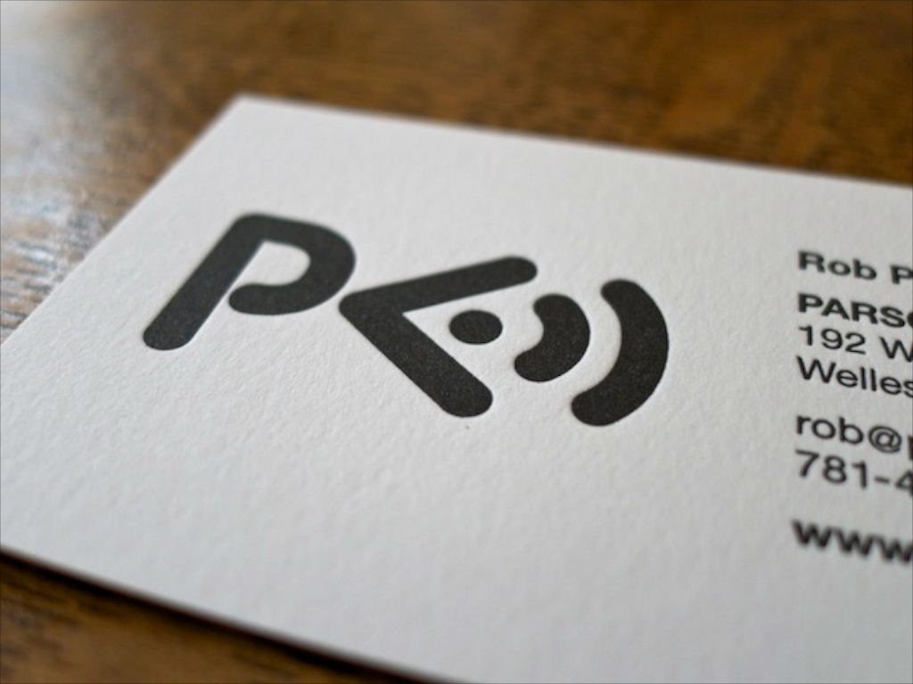 Parsons Audio business card