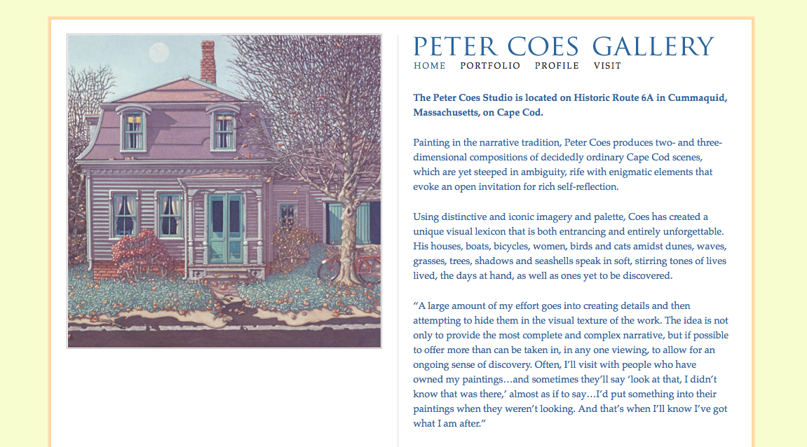 Peter Coes Website